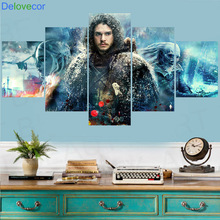 5 Piece Wall Art Game Of Thrones 7 Canvas Painting Wall Pictures For Living Room decorative pictures Print Poster Unframed