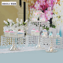 New arrival cake stand for wedding Dessert trays Cake tray decor Banquet decorations Decorating Supplies(not include the cover)