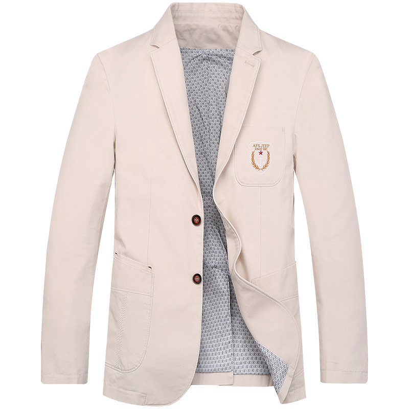 AFS JEEP  Casual blazer jacket  high quality cotton embroidery blazer masculino jaqueta masculina s suit jacket  IN3188