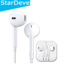 100% Original White 3.5mm headphones For Apple iPhone 5 5s 6 6s p us Earpod earphone with Remote and Mic For iPad iPod