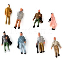 Mxfans 100PC Boutique 1:150 Scale N Gauge Hand Painted Layout Model Train People Figure(China)