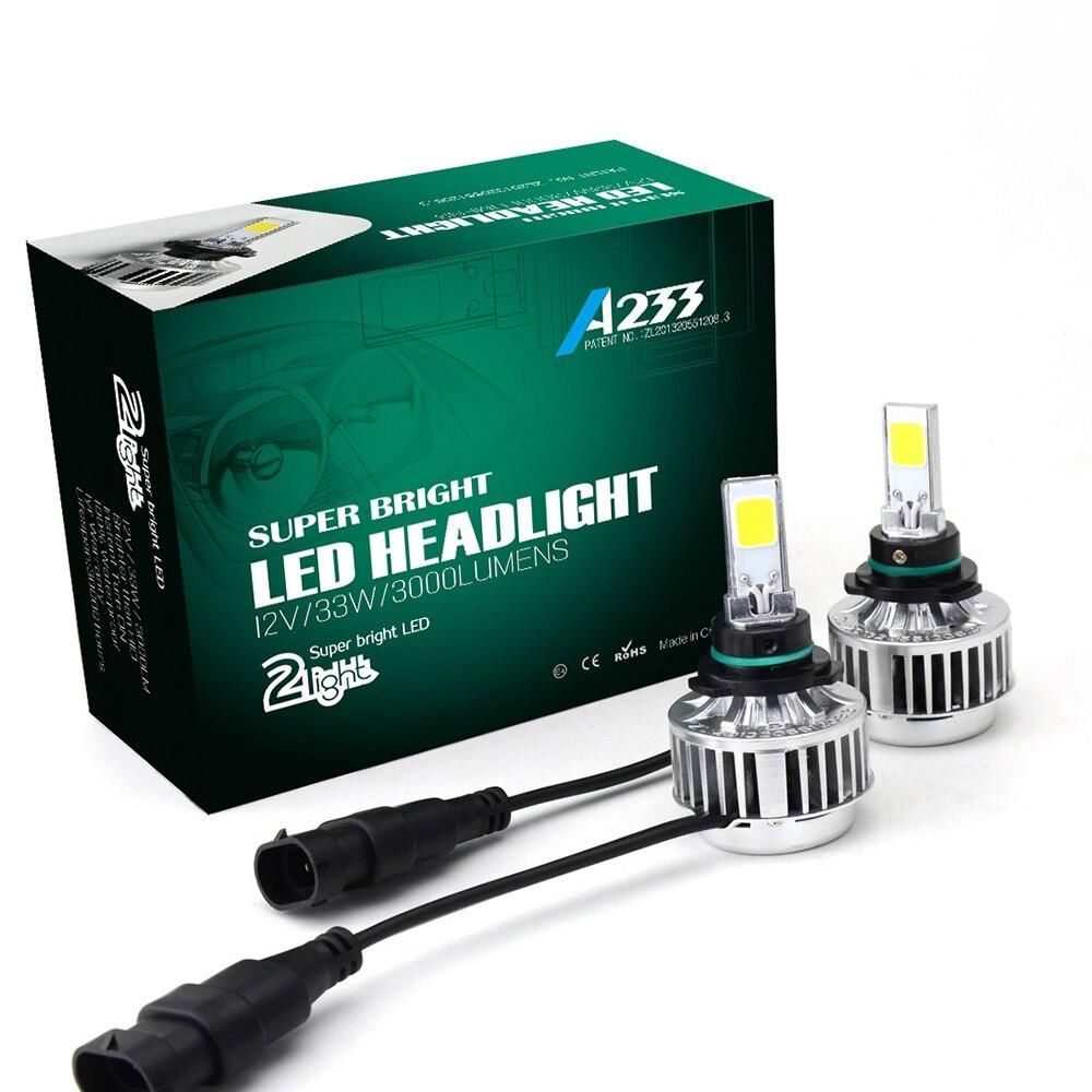 2pcs 66W car Headlight LED headlamp bulb Auto Xenon Fog Driving Head Light h1 h3 9005 9006 H7 H8 H9 H11 Automobiles Headlamp DRL<br><br>Aliexpress