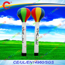 free air shipping to door,5m*45cm inflatable air balloon tube dance man,air sky dancer with sale printing