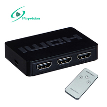 Playvision 3X1 Mini Hdmi Switch 3 Port Hub Box Auto Switch 3 in 1 Out Support Hdmi 1.4 3D 1080P Ir Control(China)