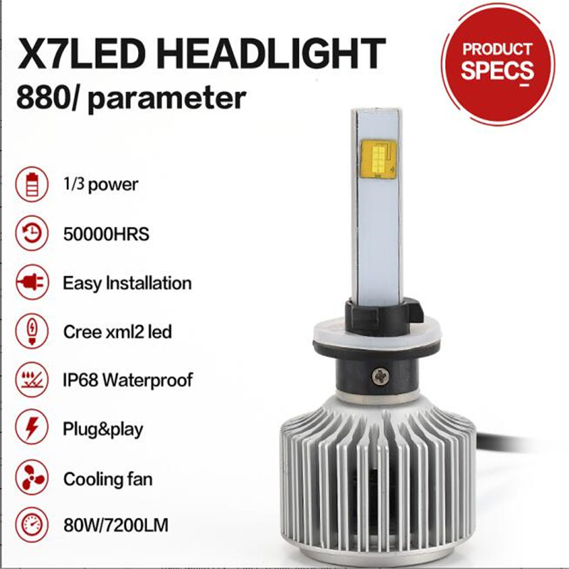led car external lights 80W 9600LM 9004 9007 H4 H13All-in-One Conversion Kit 9005 9006 H1 H3 H7 H11 Super Bright Headlamp Lights<br><br>Aliexpress