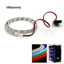 led lights for pc case 5050 SMD Flexible LED Strip Light 12V DC Background PC Computer Case Adhesive tape Light white blue red(China)
