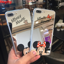 Nephy Brand High Quality Case For iPhone 8 7 5 6 s SE 5s 6s Plus 6plus 6sPlus 7Plus 8Plus Mickey Minnie Mirror Cover TPU Casing(China)