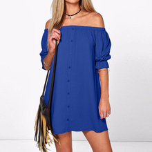 Buy 8 Colors ZANZEA 2017 Women Dress Sexy Shoulder Party Short Dress Casual Loose Half Sleeve Mini Shirt Dresses Plus Vestidos for $6.60 in AliExpress store