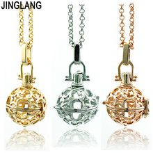 Fashion Angel Necklace Baby Musical Chime Ball 3 Color Star Cage Pendant Necklace For Women Jewelry(China)