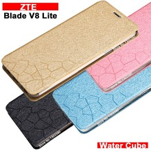 ZTE Blade V8 Lite case cover leather Water cube pu flip case for ZTE Blade V8 Lite cover case NEW ZTE Blade V 8 Lite Case Cover(China)