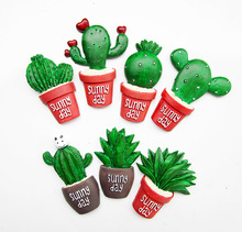 7 Styles Cute Little Resin Crafts Potted Cactus Succulents Fresh DIY Accessories Plants Artware Home Decoration Mini Handicrafts