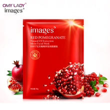 OMY LADY Images Red pomegranate mask face mask plant extract hydrating deep moisturizing&whitening facial massage mask skin care