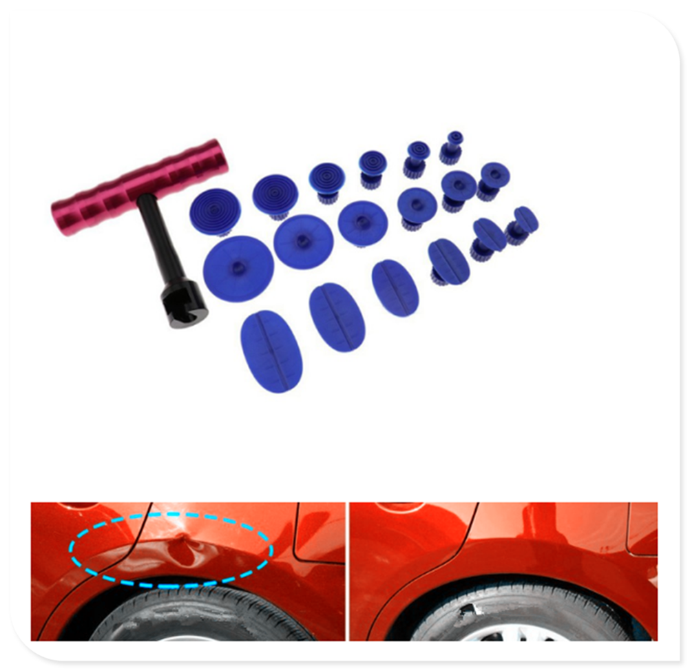 Car Hail Dent Repair Puller + Sheet Metal Plastic Suction Cup Kit for BMW 330e M235i Compact 520d 518d 428i 530d 130i