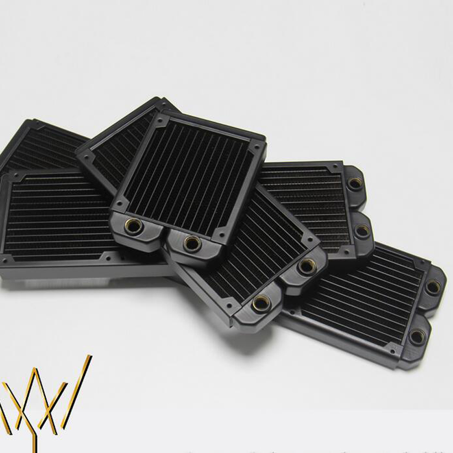 120 240 360 480 Fang water-cooled copper radiator exhaust heat exchanger cool water cooling high quality<br>