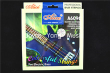 Alice A609C Colourful Electric Bass Strings Colourful Nickel 4 Strings 040-095 in. WholeSales Free Shipping