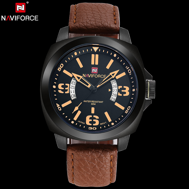 NAVIFORCE Original Luxury Brand Military Quartz Watch Mens Watch Analog Calendar Waterproof Wristwatches relogio masculino <br>
