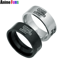 GTA5 Game Grand Theft Auto V Ring can Drop-shipping Metal Finger Rings For Gift Charm Cosplay Jewelry as Birthday Gift 3 size