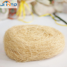 Party Decorations Free Shipping Wholesale Natural Uncolored Raffia Jute Candy Packing Material Box Filler Supplies(China)