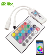 RiRi won smd rgb led strip light 24k wifi Controller DC 12v wifi remote controller 24k Wifi led controller music and timer mode(China)