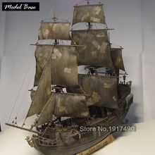 Wooden Ship Models Kits Black Pearl 1/96 Train Hobby Scale Wooden Ship Model Boats 3d Laser Cut Diy Black Pearl Model Kit pirata(China)