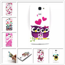 Fashion Retro tape Cartoon Owl USA UK flag ShockProof soft TPU Silicon Case Cover For LG Magna H502 H502F