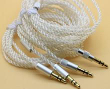 3.5mm Silver plated transparent high quality DIY Earphone audio cable repair upgrade wire For UE900 SE535 IE800 K3003