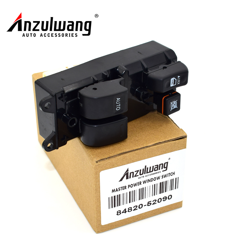 ANZULWANG 1Pc 84820-52090 8482052090 New Master Power Window Control Switch for Toyota Yaris Echo Verso(China)