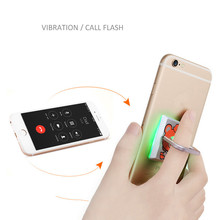 Bracket mobile phone flat 360 degrees wide portable portable mini LED light phone finger ring button flash for iphone samsung
