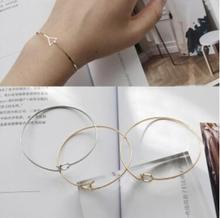 s 147 2017 Korean fashion jewelry design goldplated geometric triangle ballpoint pencil bracelet simple temperament bracelet wo