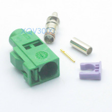 2pcs Connector Fakra E 6002 SMB female jack crimp for RG316 LMR100 RG174 Green