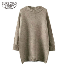 Buy 2017 new winter fashion casual style women loose sweaters solid long pullovers women clothing oversize O-neck sweaters D257 30 for $18.87 in AliExpress store