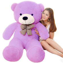 Free shipping 100cm giant teddy bear stuffed purple big embrace doll girl's gift baby toy life size teddy bear New arrival(China)