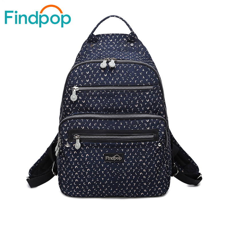 Findpop Vintage Backpack Bags For Women 2018 Large Capacity Waterproof Canvas School Backpack Mochilas Printing Backpack Women <br>