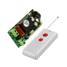 220V 1CH 10A RF Remote Control Power Switch Wireless Light Lamp LED Receiver Transmitter 1000M Long Distance(China)