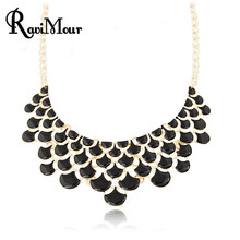 Buy Maxi Necklace Women Enamel Collares Mujer Layer Choker Necklaces & Pendants Statement Jewelry Collier Femme Bijoux 2017 for $2.93 in AliExpress store