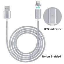 Sindvor Magnetic Charger Cable Nylon Usb Cable Magnetic Charging Cable For iPhone 5 5S 6 6S 7 Plus iPad 4 5 Air For Lighting