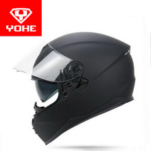 2017 New YOHE double lenses Full Face motorcycle helmet YH967 cross-count motorbike helmets made of ABS PC lens Size M L XL XXL