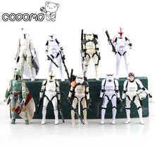 13 colors Plastic Star War Action Figures Minifigure Game Vinyl Desk Toys Darth Vader Storm Trooper Christmas Birthday Gift Toy