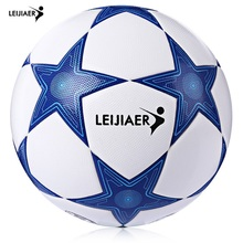 LEIJIAER Size 5 Star TPU Competition Soccer Football Ball Men Women Seamless Adhesive Soccer Ball Train Football New Model(China)