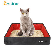 Litter-Box Dog-Toilet-Tray Foldable Bedpan Waterproof Travel Outdoor Pet-Cat