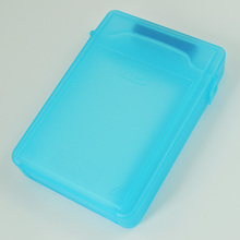 PROMOTION! Hot Blue 3.5inch IDE SATA HDD Storage Box Case Enclosures HDD Polypropylene Boxs(China)