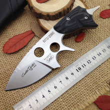 "best outdoor tactical knife camping hunting fixed blade knives 2.56 "" D2 steel blade Micarta handle Leather sheath Survival tool"