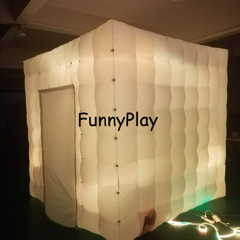 LED lighted inflatable photo booth8