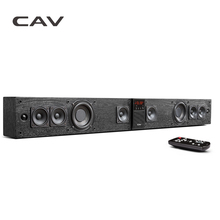 CAV BS30 Bluetooth Soundbar Column Dual Subwoofers Speaker Home Theater DTS Surround Sound System Hang Wall Built-in 3D Stereo