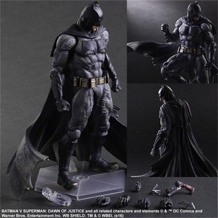 Batman Action Figures Play Arts Kai Dawn of Justice PVC Toys 260mm Anime Movie Model Heavily-armored Bat Man Playarts Kai<br><br>Aliexpress