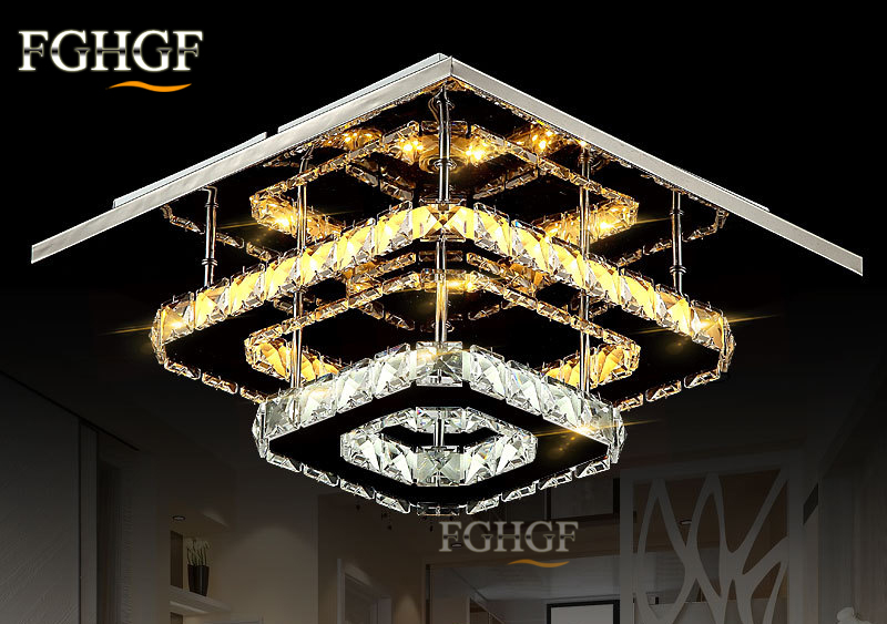 Modern Crystal LED Ceiling light Fixture For Indoor Lamp lamparas de techo Surface Mounting Ceiling Lamp For Bedroom Dining Room (3)