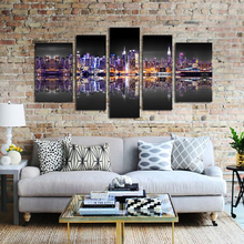Artryst 5PCS Canvas Art Modular Pictures Night Art Painting for Home Landscape Wall Painting Print Modern Home Decor Paintings
