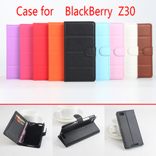 For Blackberry Z30 Litchi Grain Leather Case Cover for Blackberry Z30 Luxury Phone Cases with Wallet Stand Card(China)