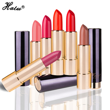Beauty 3.6g Lipstick Halu Brand Food Grade Healthy Moisturizer Smooth Waterproof 6 Fashion Color Long Lasting Matte Lipstick(China)