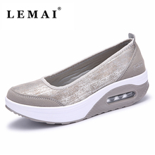 LEMAI 2017 Summer Women Breathable PU Light Sneakers, Running Shoes For Women's Sport Trainers Shoes(China)